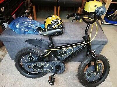 MV Sport Batman 14-Inch Boys Bike - Black with Helmet