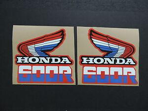 1985 HONDA XR 600 GAS TANK DECAL SET VINTAGE MOTOCROSS AHRMA