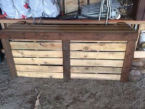 Pallet & old barn wood bars - used for wedding