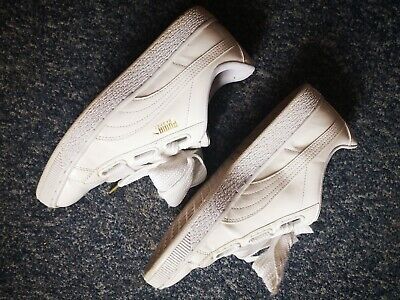 Women's puma heart white patent trainers size 6