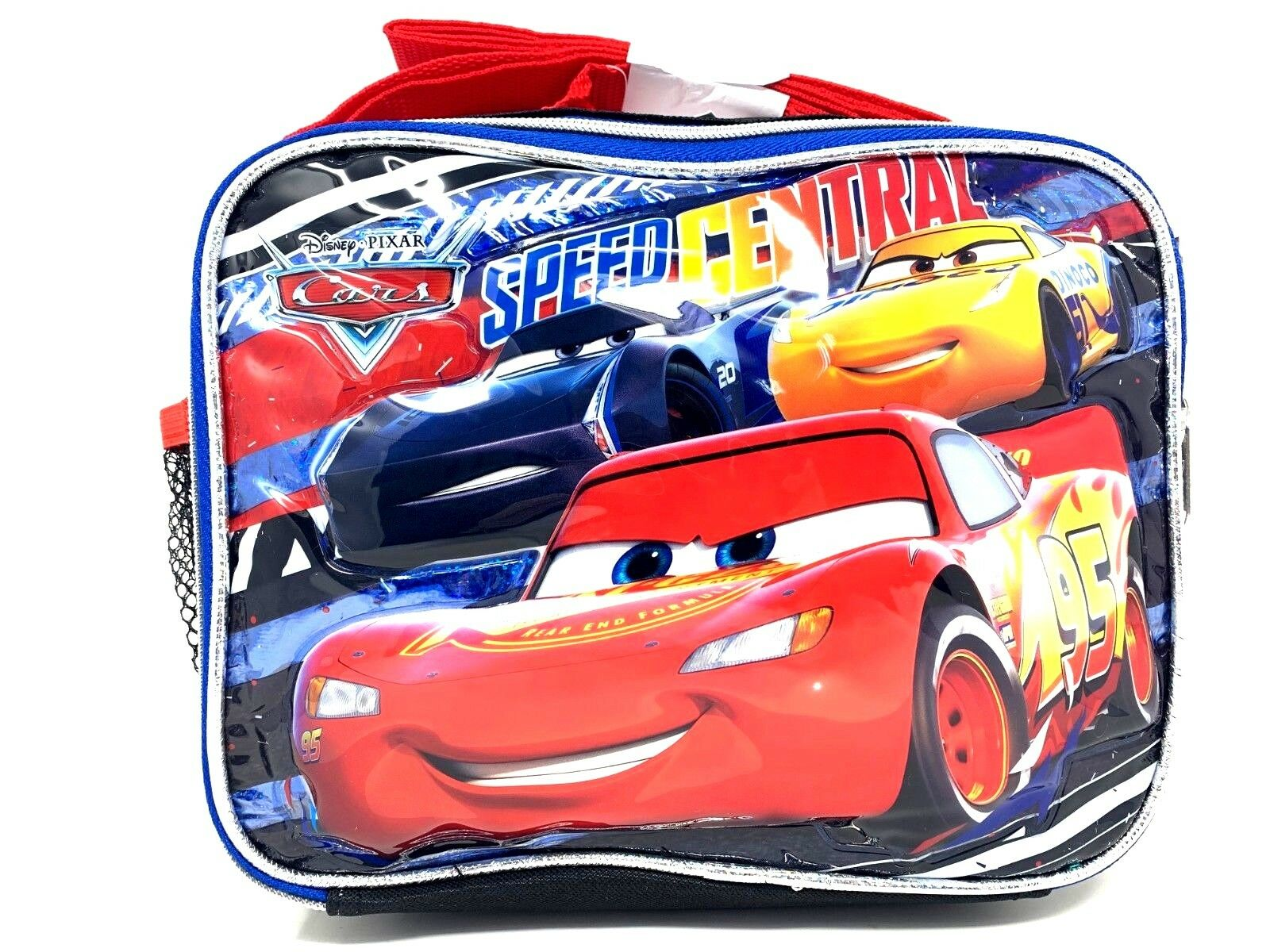 """Disney Cars """"Speed Central"""" Insulated Lunch Bag with Shoulde"""