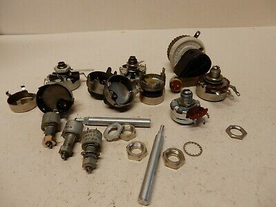 Vintage Potentiometer Lot Shown Various Types And Makes