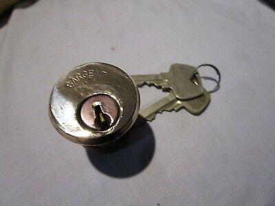 Vintage Brass Sargent Mortise Cylinder 1 18 Used With 2 Keys