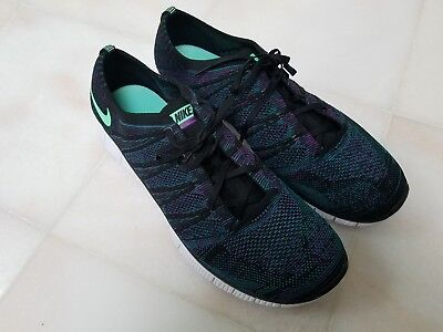 """259b95a837d NIKE FREE 5.0 """"FLYKNIT"""" MENS RUNNING SHOE BLK TEAL MAUVE SIZE 15"""