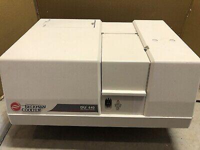Beckman Coulter Du-640 Spectrophotometer With Cuvette Holder