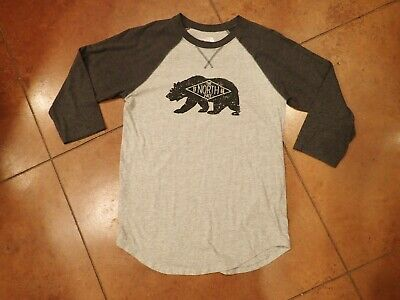 North Face Men's Black/Grey T-Shirt Size SP