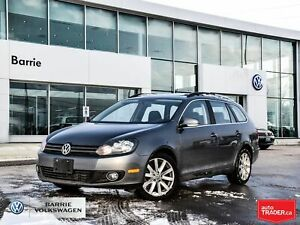2014 Volkswagen Golf TDI Highline/Leather/Backup Cam/Pano Sunroo