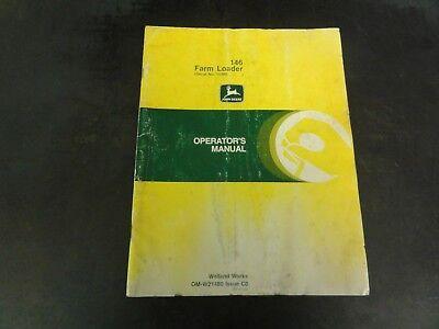 John Deere 146 Farm Loader Operators Manual  Om-w21480 Issue C0