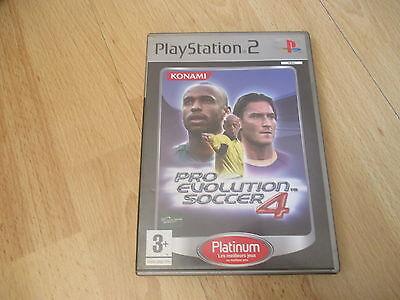 JEU VIDEO SONY PLAYSTATION 2 PS2 PRO EVOLUTION SOCCER 4 +  boite + notice