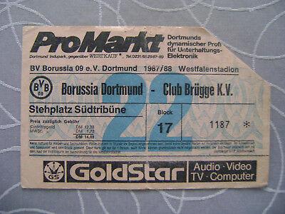 TICKET B. DORTMUND - CLUB BRUGGE  1987/88