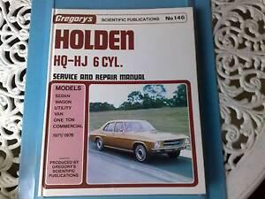 Holden HQ HJ Workshop Manual (6 Cylinder) Narre Warren Casey Area Preview