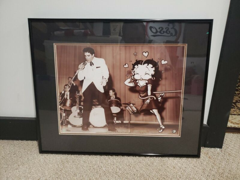 """STARSTRUCK BETTY"" FINE ART LITHOGRAPH WITH ELVIS PRESLEY TOON ART 22X17.5 /5000"