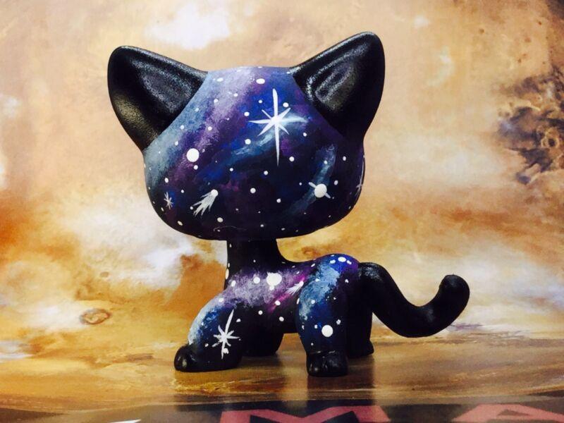 Rainbow GALAXY  KITTY Cat Cute Short Hair Littlest Pet Shop LPS CUSTOM