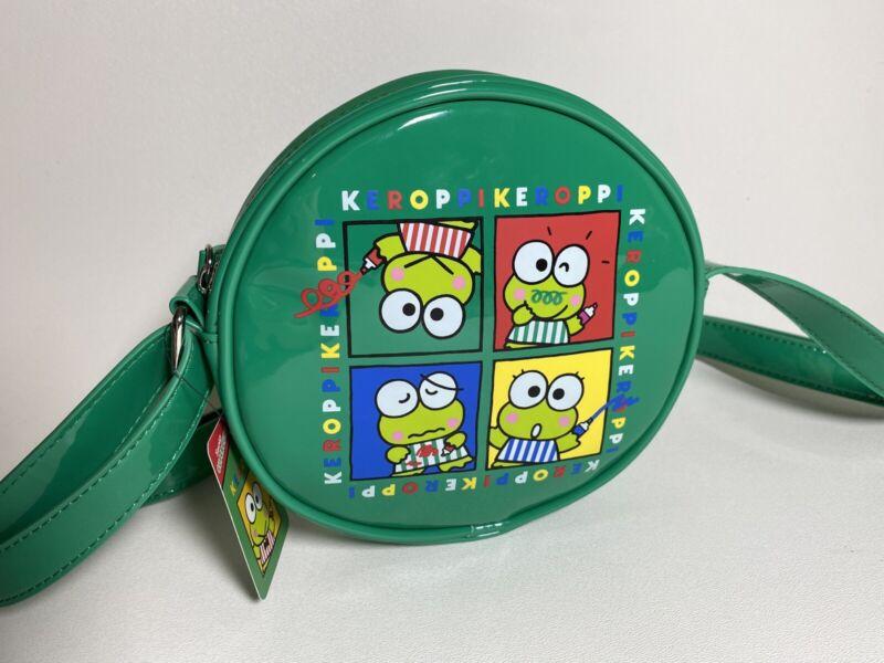 Keroppi Frog 7 Inch Round Vinyl Shoulder Purse Handbag NWT Sanrio Adj Strap