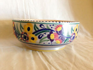 Lovely POOLE POTTERY Fruitbowl YO Pattern by Josephine Smith