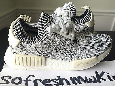 a91da0079e116 Adidas Nmd R1 Pk White Grey Camo Sz 7! Ba8600 Glitch Primeknit Boost Zebra  Yeezy