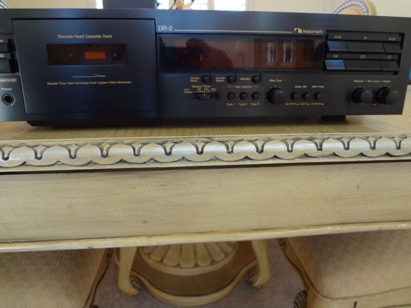 NAKAMICHI DR-2 TOP OF DR SERIES LINE 3 HEAD DECK, EXCELLENT CONDITION NEW BELT