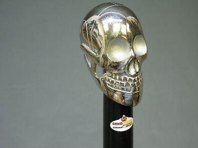 Walking Stick Cane Mystic LARP Skull Skull Head handl 94 cm Fine Wood Metal Gift for sale  Shipping to Canada