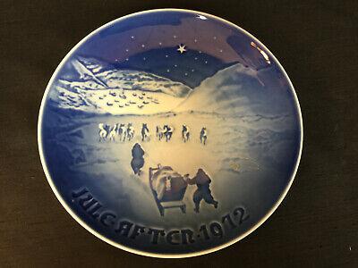 ROYAL COPENHAGEN DENMARK B & G * BLUE * CHRISTMAS IN GREENLAND * PLATE * 1972