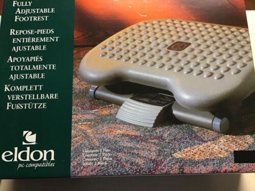 "Eldon Height-Adjustable Tilting Footrest, 3"" Adjustment 4653 Charcoal"