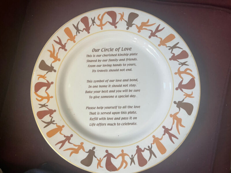 Our Circle Of Love Pass Along Plate