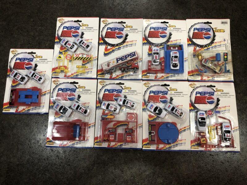 Vintage Pepsi Golden Wheel Die Cast Cars