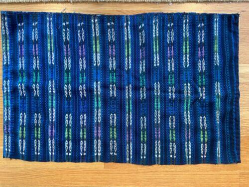 Handmade Guatemala Fabric Ethnic Maya Jaspe Ikat Royal Blue Skirt
