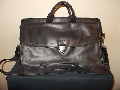 Kenneth Cole Aktentaschen (Kenneth Cole Kuriertasche Leder Laptop Portfolio Aktentasche Schulter Tasche)