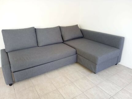 Corner Sofa Bed With Storage As New
