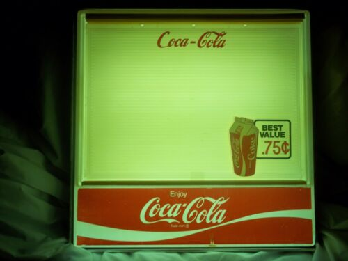 Classic Vintage Coca-Cola Lighted Menu Board Sign 3/sets of NOS Letters,Numbers!