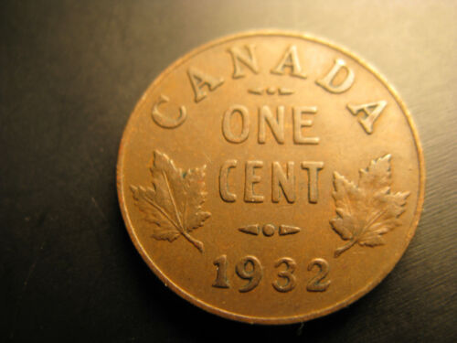Canada 1932 Small Cent Penny.