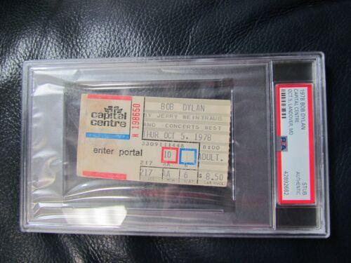 BOB DYLAN Oct. 5, 1978 Ticket Stub PSA Encapsulated