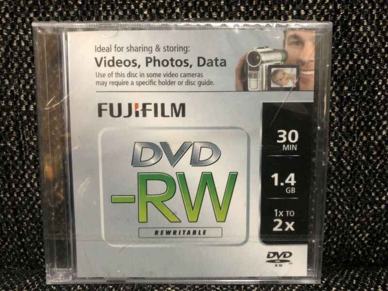 1 Fuji Film Mini DVD-RW Rewritable Camcorder Disc 30 min 1.4 GB 1X to 2X NEW NIP
