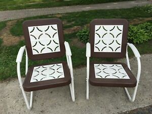 Antique Metal Patio Chairs - Immaculate Condition One Owner