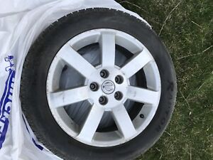 Nissan 17 Inch Alloy Wheels and Tires
