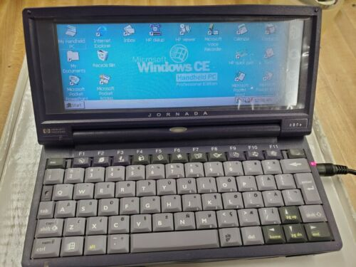 HP Jornada 680e Handheld PDA PC Windows CE 3.0 F1263A 16MB w/ Accessories