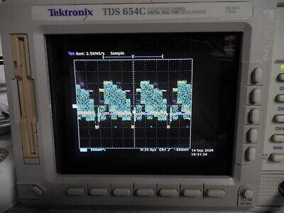 Tektronix Tds654c Oscilloscope 500mhz 5gss 13 1f 2f Tek Scope Tested Guaranteed