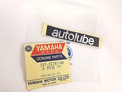 OIL TANK DECALS AUTOLUBE YAMAHA AS1 HS1 YL1 YL2 YR1 YR3 CS2 YM2 GENUINE NOS for sale  Shipping to South Africa