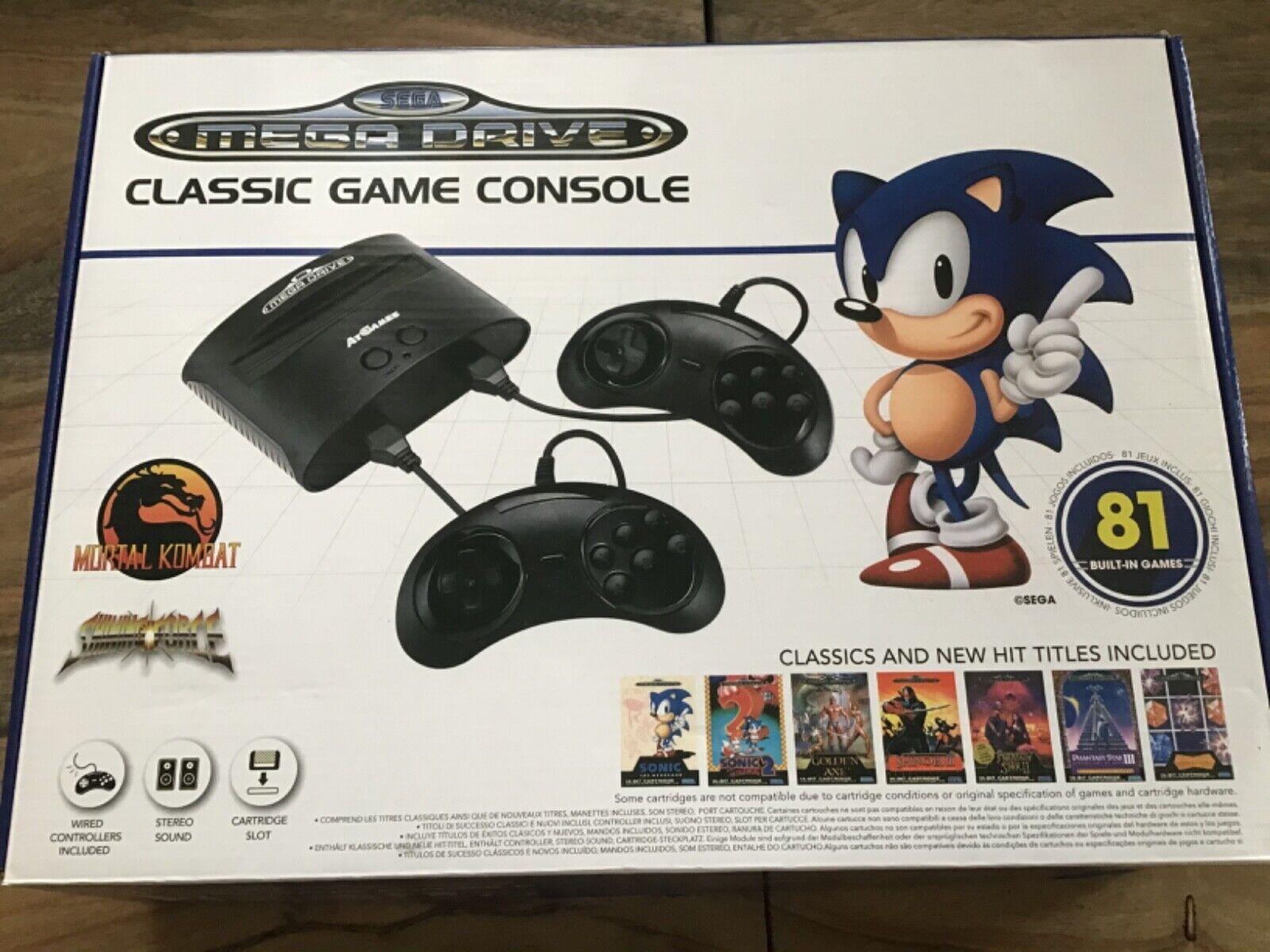 Sega mega drive Spielkonsole für Liebhaber alter Zeiten! Inklusive 81 Spielen!