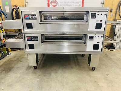 Middleby Marshall Ps570g Double Stack Conveyor Pizza Ovens Tested Working
