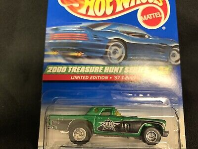 Hot Wheels 8/12 - 2000 Super Treasure Hunt Series - '57 T-BIRD - Free Shipping
