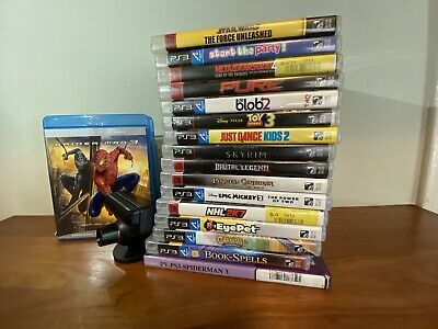 PlayStation 3 Bundle: PS3 Eye, 16 Games and Spider-Man 3 BluRay - Skyrim MSG