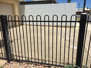 Protector Aluminium Pool Or Fence Panel With 2 Pedestrian Gates
