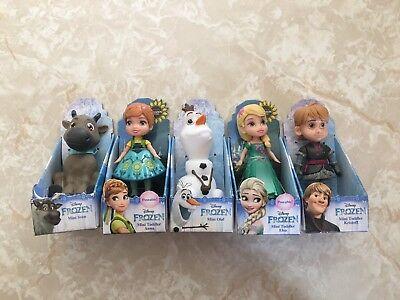 Disney Frozen Mini Toddler Doll FEVER Elsa ANNA SVEN KRISTOFF Olaf Set LOT