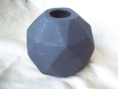 "Textured Black Geometric Angular 4"" Vase Danish Design By House Doctor"