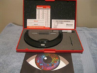 Starrett 436.1xrl-6 Micrometer Wstandard Carbide No Engravings Machinist Tools