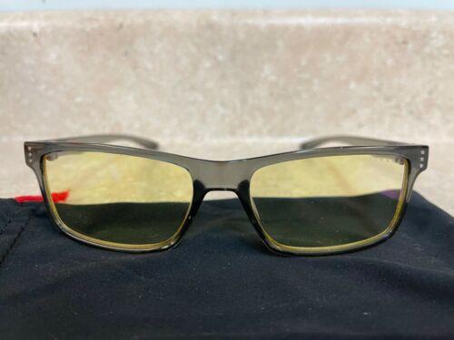 GUNNAR Computer Eyeglasses VERTEX Smoke Frames w/ Amber Yellow Lens