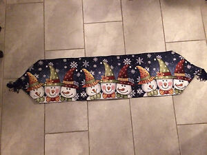Snowman table Runner and ornaments London Ontario image 4