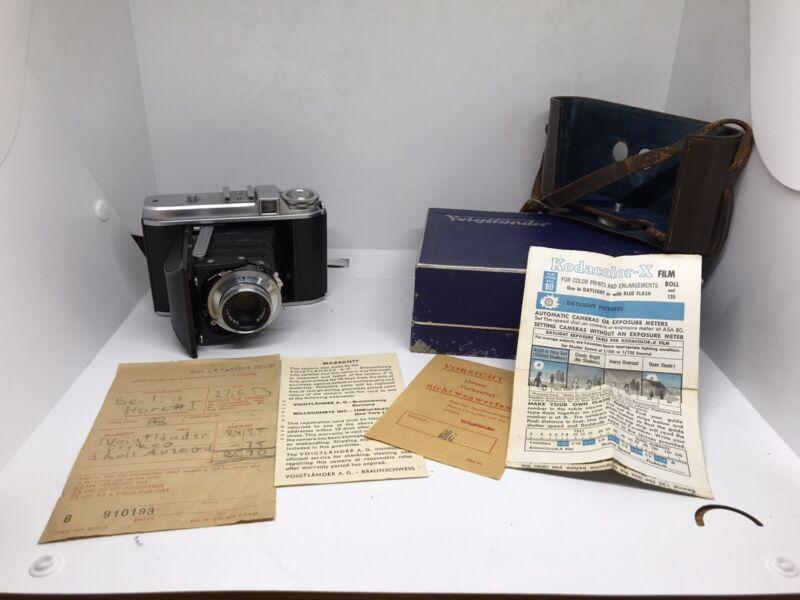 Voigtlander Perkeo 1 Vintage Film Camera Used As Is