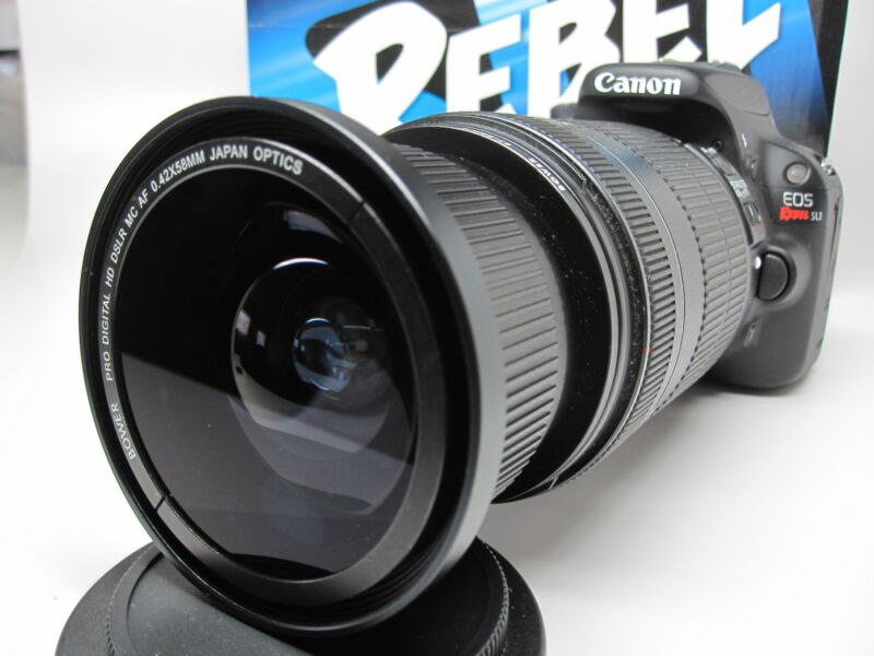 Ultra Wide Angle Macro Fisheye Lens for Canon Eos Digital Rebel t4i t3i t2i 52mm